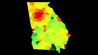 Georgia Population Density Atlasbig Com
