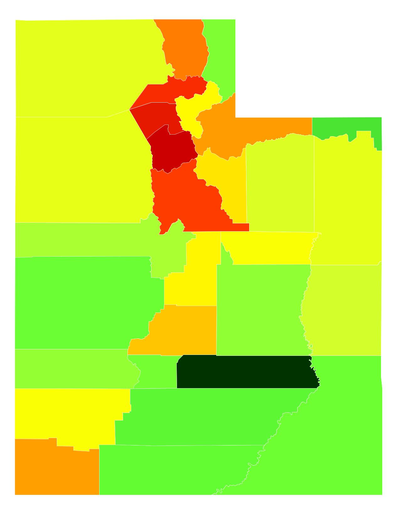 Utah Population Density - AtlasBig.com