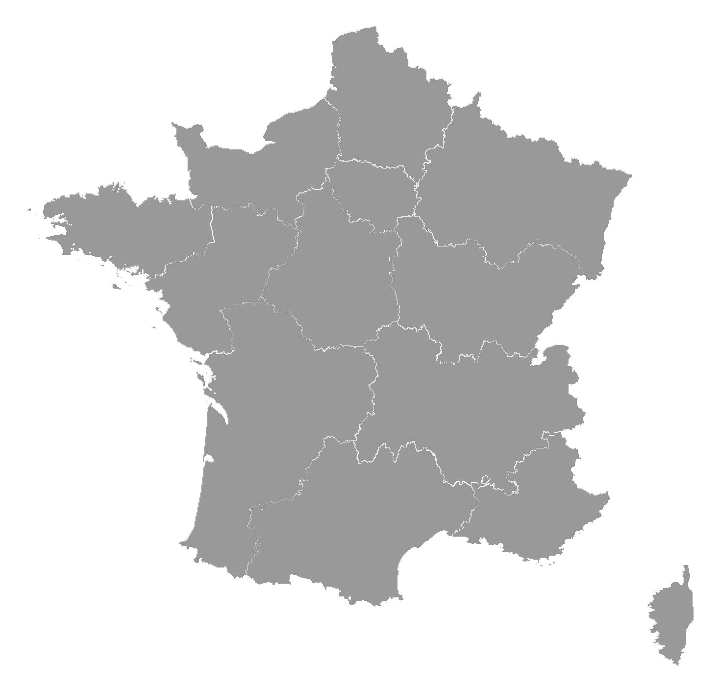 Corona Regionen Frankreich