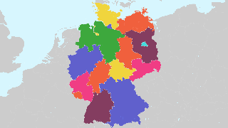 Map Of States Of Germany.States Of Germany On Interactive Map Atlasbig Com